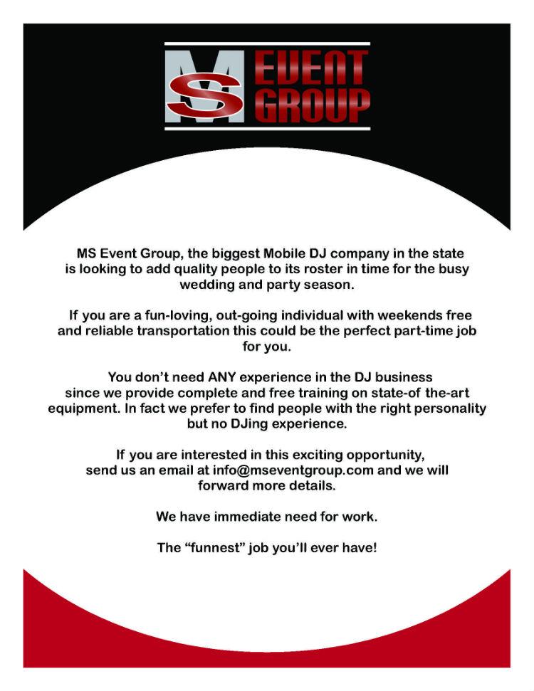 MS Event Group - Hiring